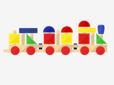 Toy Train trains toy sketch illustration