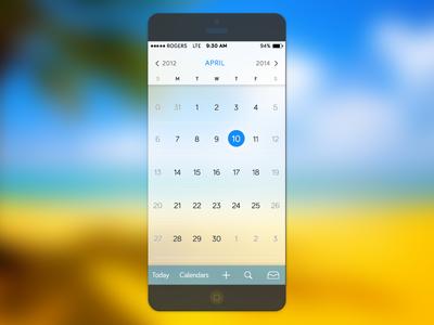 IOS7 Calendar