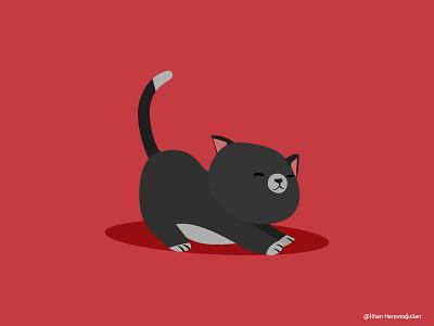 Cat İllustration kitten kitty illustration kitty cats cat art artist flat illustration vector design