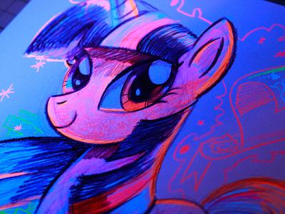 Black Light My Little Pony Sketch