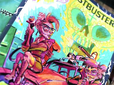 Ghostbusters Original Sketch Cover #1