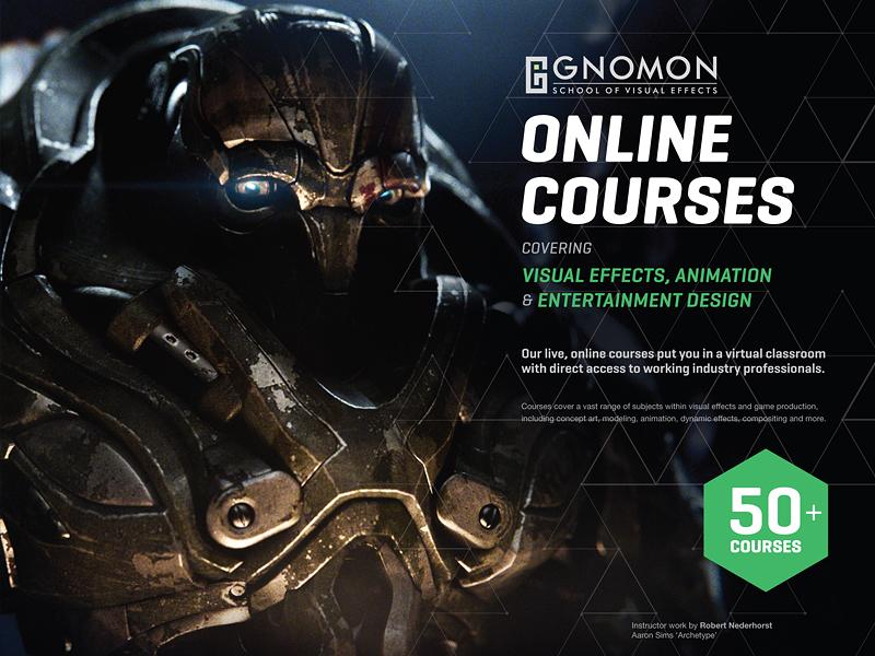 Gnomon Online Courses Magazine Ad by Bad Bob on Dribbble