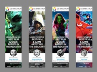 Film and Game Banner Ads
