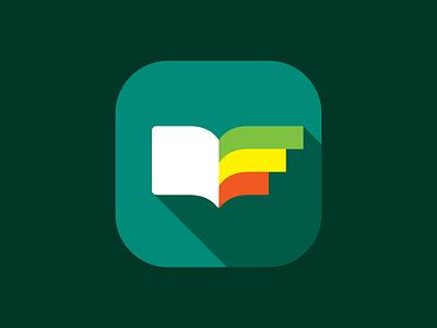 Progress Logo progress logo simple flat minimal book app icon graph