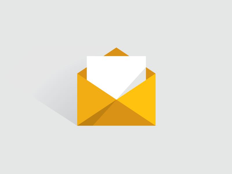 Mail Icon mail icon symbol simple flat minimal yellow