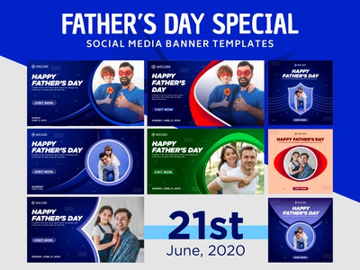 Father's Day Special Social Media Post Banner Design. vector idendity illustration logo design greeting heart holiday happy creative web banner honour family psd template banner design love celebration fathers day