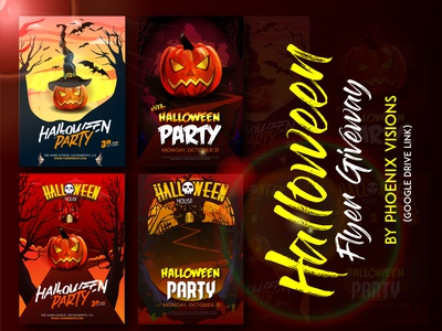 Halloween Giveaway By Phoenix Visions Free Download home typography minimal brand ux design company modern design vector illustration halloween design halloween flyer halloween party