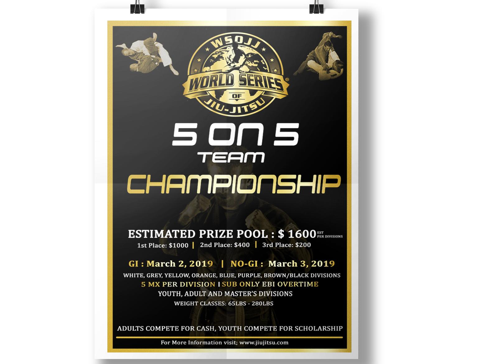 Event Poster black and gold black martial art karate judu championship flyer poster design event