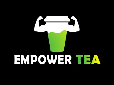 Green Tea Brand Logo product simple drinks healthy empower logo brand tea green