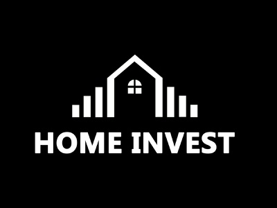 Home Invest Logo idendity logo deisgn vector agency real estate company brand invest home