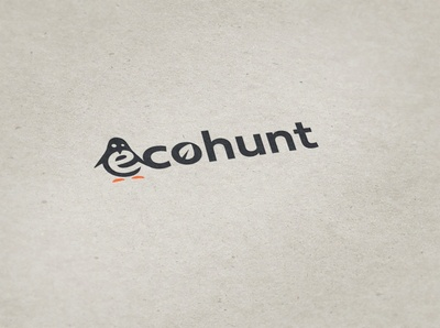 ecohunt logodesign flat vector icon design logo