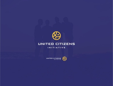 United Citizens flat  design icon vector design logo