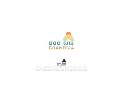 Doc Grandma logo vector flat design logo