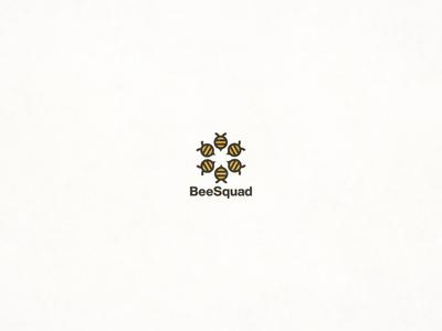 Bees branding logodesign flat vector design logo