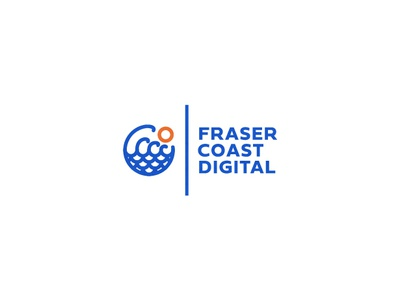 Fraser Coast Digital flat  design logodesign flat waves logo