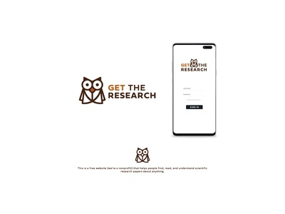 OWL and Book idea branding flat icon vector design logo