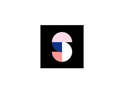 "Logo mark WIP, ""S"" graphic design color blocking icon logo mark"