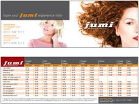 Jumi Hairdressers Price List