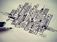 Skyline Pen Illustration2