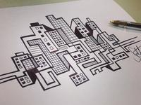 Skyline Pen Illustration
