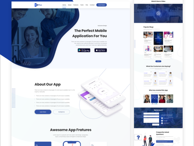 App landing page app template landing page clean landing page creative app landing page app landing template app website app showcase app landing page