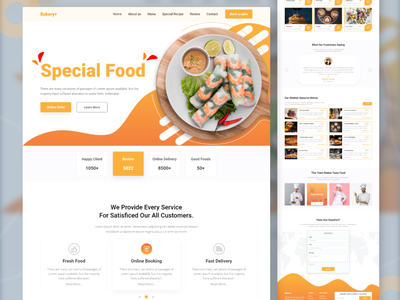 Resturant and Food Landing Page digestive fast food food shop restaurant website food website pizza food landing page