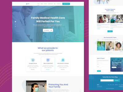 Family Health Landing page hospital doctor landing page websites landign page appointment doctor doctor appointment website healthcare clinic