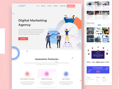 Digital Agency Landing page company landing page web ui business agency landing page design website design ui design agency website agency landing page digital agency