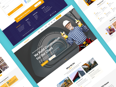 Construction Agency Landing Page web page design website design landing page agency website