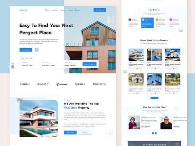 Real Estate Landing Page website real estate business real estate website real estate ui ui design website design agency website landing page real estate landing page real estate