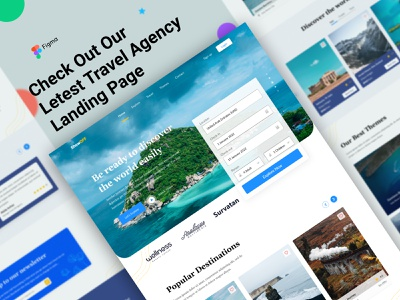 Travel agency Landing page hangout website agency business website agency ui design website design agency website landing page agency landing page