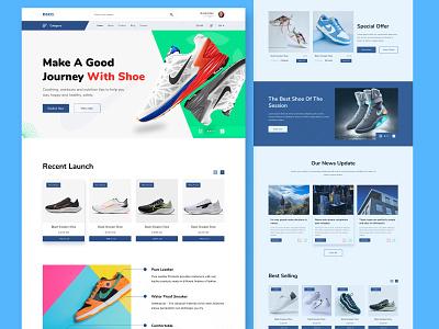Shoe E-commerce Landing page website ui design website design landing page ecommerce design shoe product shoe website product landing ecommerce shop product shop product ecommerce shoe landing shoe ecommerce ecommerce website ecommerce landing page