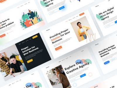 Header Exploration Web UI call to action nab bar business solution saas corporate ui company website website agency landing page ui design agency website agency website design ui agency design corporate design web design landing page home page hero section header