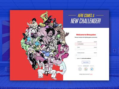 Daily UI Challenge: 001 webdesign daily 100 challenge dailyui 001 dailyui001 visualdesign streetfighter dailyui ui shoryuken