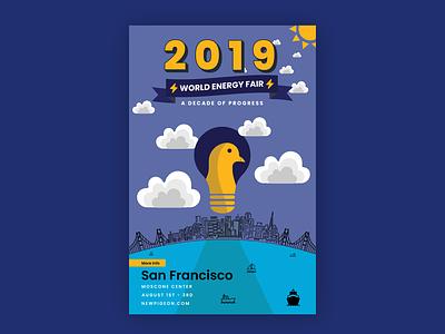 Event Poster Design tech poster pigeons tesla visualdesign event