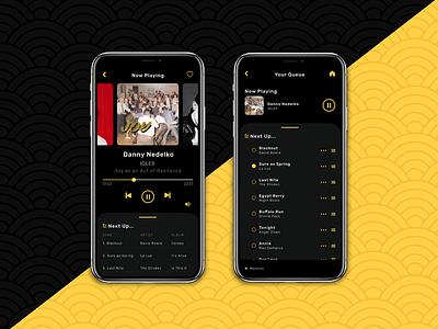 Daily UI Challenge: 009 mobileapp visualdesign music musicplayer 009 dailyui