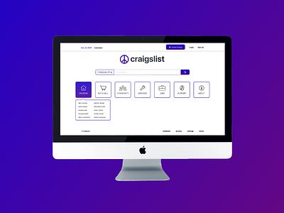Craigslist Redesign information architecture webdesign visual design redesign craigslist