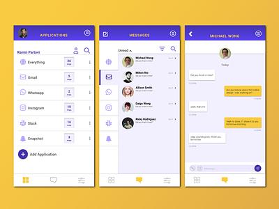 Daily UI Challenge: 013 application messaging mobile design visualdesign dailyui