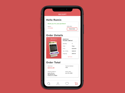 Daily UI Challenge: 017 figma webdesign mobiledesign visualdesign email receipt email dailyui
