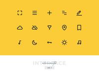 Interface Elements Pixel-perfect Icon Set vol. 1