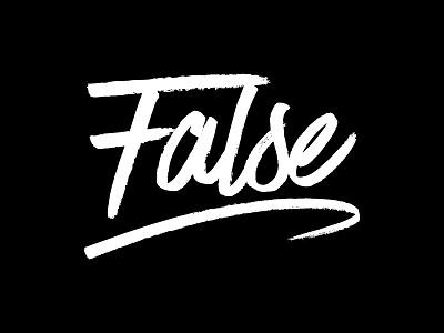 False Records false records black and white identity records false logo logotype script