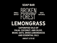 Broken Forest Collective Soap Label