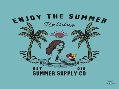 Enjoy The Summer t-shirt and apparel modern design with styled.