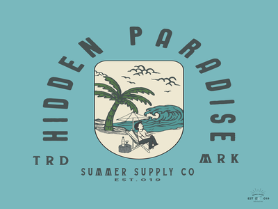 Hidden Paradise t-shirt and apparel modern design with styled,.