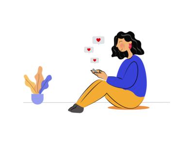 Social networks digital illustration illustrator social network creativity flat illustration characterdesign vector flatdesign illustration ui colors illustration art inspiration design