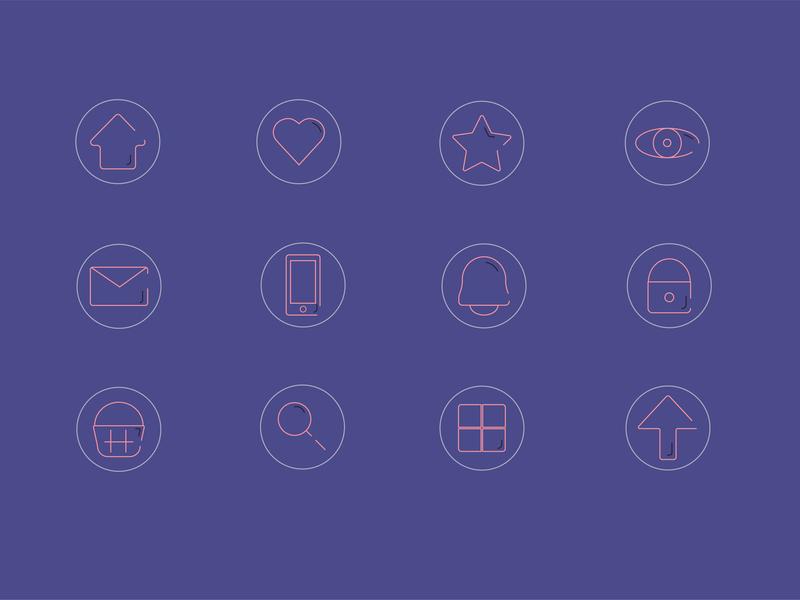 Icons e-commerce design icons creatividad ui