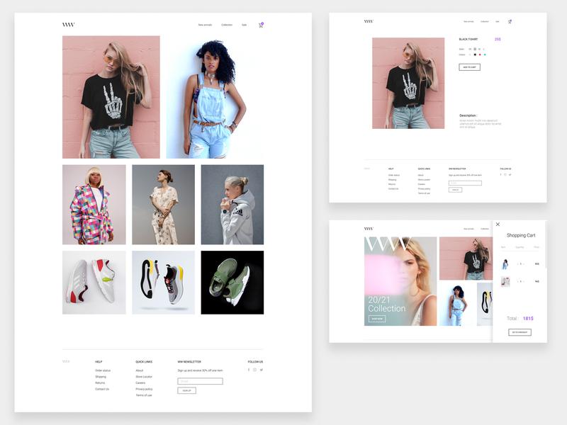 WW ecommerce fashion concept figma design figmadesign ui web design