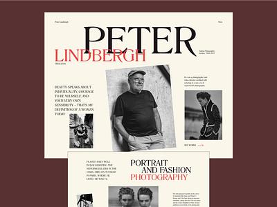 Peter Lindbergh minimal web design ui history promo website webdesign photographer photography