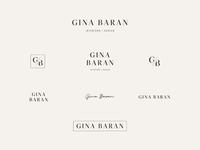 Logos & Marks for Gina Baran Interiors + Design