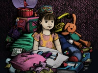 Niña y sus juguetes | Girl and her toys